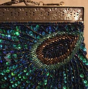 Bags - Sequin Peacock Evening Purse